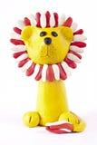 狮子彩色塑泥 免版税库存照片