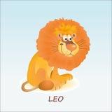 狮子或利奥的占星术标志 库存例证