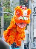 狮子显示愉快的中国年 免版税图库摄影
