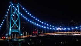 狮子桥梁-温哥华, BC 免版税图库摄影