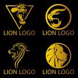 狮子概念商标 免版税库存图片