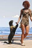 狮子海运培训人 免版税库存图片