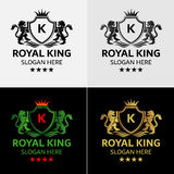 狮子王商标模板 库存例证