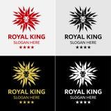 狮子王星商标模板 免版税库存图片
