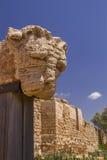 狮子的坚硬的古老废墟片段在凯瑟里雅国家公园 库存照片
