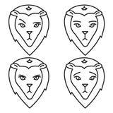 狮子的标志 冷漠 悲伤 赌气 皇族释放例证