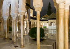 狮子的法院在阿尔罕布拉宫 图库摄影