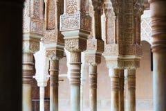 狮子的法院细节在阿尔罕布拉宫 免版税库存照片