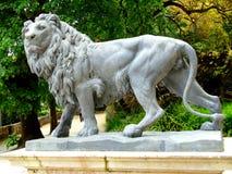 狮子的雕象 库存照片