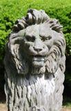 狮子的顶头雕象的特写镜头图片 免版税库存图片