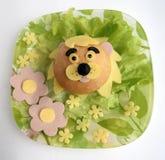 以狮子的头的形式三明治 库存照片