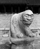狮子石雕象 库存照片