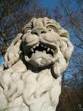 狮子石雕象 免版税图库摄影