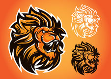 狮子红色商标传染媒介象征 向量例证