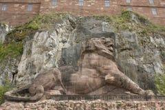 狮子纪念品在贝尔福法国叫狮子de贝尔福, 免版税库存照片