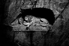 狮子纪念碑) 免版税库存照片