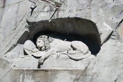 狮子纪念碑 免版税图库摄影