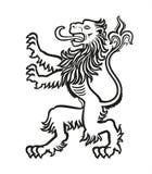 狮子纹章学风格化01 库存照片