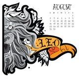 狮子纹身花刺 库存例证