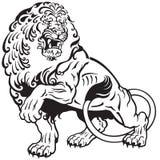 狮子纹身花刺 库存图片