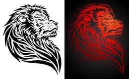 狮子自豪感纹身花刺 库存图片