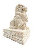 狮子被雕刻的大理石 库存照片