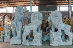 狮子被雕刻石头,越南 免版税图库摄影
