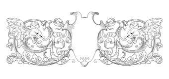 狮子装饰框架 库存图片