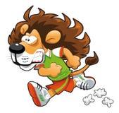 狮子赛跑者 库存例证