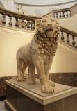 狮子那不勒斯雕象 库存图片