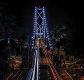 狮子门桥梁温哥华 库存图片