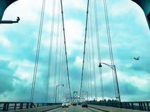 狮子门桥梁,温哥华,不列颠哥伦比亚省,加拿大 免版税库存图片