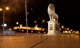 狮子雕塑在斯科普里 马其顿 免版税库存图片