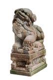 狮子雕塑石头 免版税库存图片
