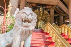 狮子雕塑 图库摄影