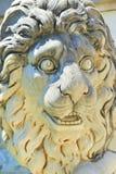 狮子雕塑(Peles城堡) 免版税库存照片