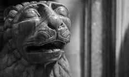狮子雕象在意大利 库存图片