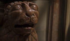 狮子雕象在意大利 免版税库存照片