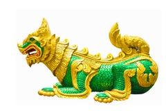 狮子雕象寺庙 免版税库存图片