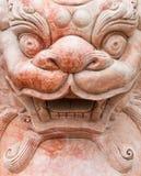 狮子雕象的特写镜头。越南 免版税图库摄影