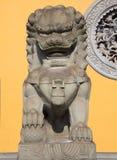 狮子雕象石头 库存图片