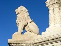 狮子雕象,布达佩斯 免版税库存图片