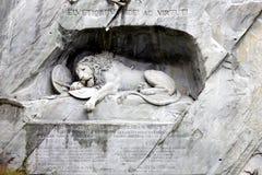 狮子雕象 库存照片