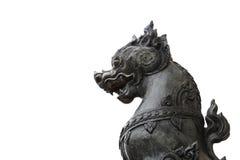 狮子雕象Singha 免版税库存照片