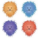 狮子面孔 免版税库存图片