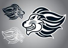 狮子顶头商标传染媒介标志 皇族释放例证