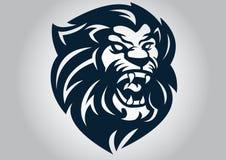 狮子顶头商标传染媒介设计 皇族释放例证