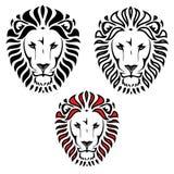 狮子顶头纹身花刺 向量例证