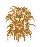 狮子顶头剪影 库存图片