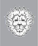 狮子顶头吉祥人商标 免版税库存图片